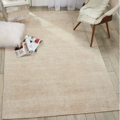 Romans Solid Hand-Tufted Linen Area Rug Rug Size: Rectangle 53 x 75