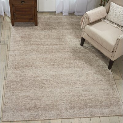 Romans Solid Hand-Tufted Oatmeal Beige Area Rug Rug Size: Rectangle 39 x 59