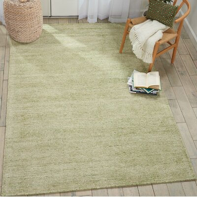 Romans Solid Hand-Tufted Citron Green Area Rug Rug Size: Runner 23 x 76