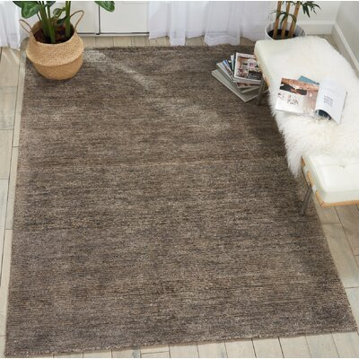 Romans Solid Hand-Tufted Charcoal Area Rug Rug Size: Runner 23 x 76