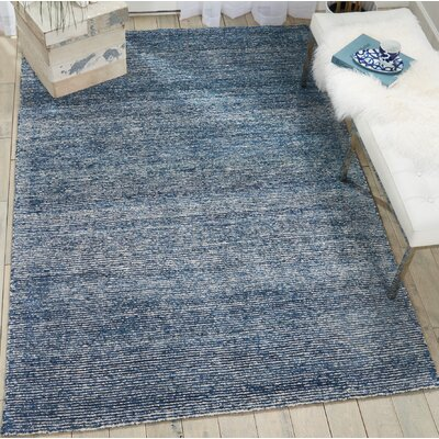Romans Hand-Tufted Aegean Blue Area Rug Rug Size: Rectangle 39 x 59