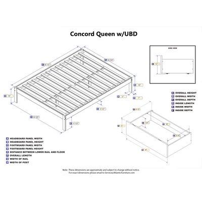Thornport Storage Platform Bed Size: Queen