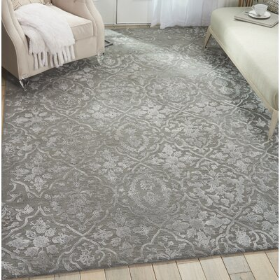 Trevethan Glam Hand-Tufted Charcoal/Silver Area Rug Rug Size: Rectangle 79 x 99