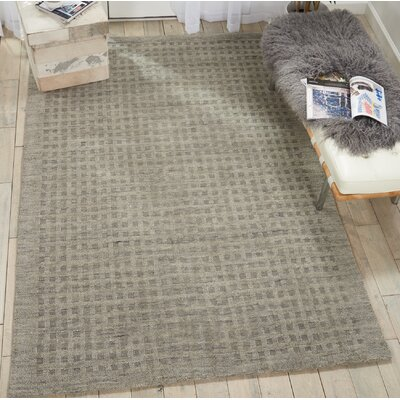 Dove Solid Hand-Woven Wool Charcoal Area Rug Rug Size: Rectangle 39 x 59
