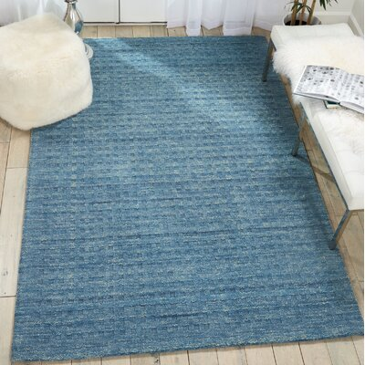 Dove Solid Hand-Woven Wool Denim Blue Area Rug Rug Size: Rectangle 5 x 76