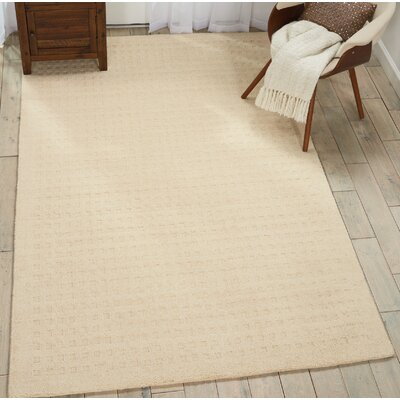 Dove Solid Hand-Woven Wool Ivory Area Rug Rug Size: Rectangle 5 x 76