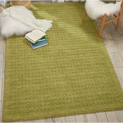 Dove Solid Hand-Woven Wool Green Area Rug Rug Size: Rectangle 66 x 96