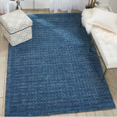 Dove Solid Hand-Woven Wool Navy Blue Area Rug Rug Size: Rectangle 5 x 76
