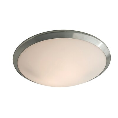 Matthies 1-Light LED Flush Mount Fixture Finish: Chrome