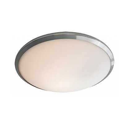Matthies 1-Light Flush Mount Fixture Finish: Buffed Nickel