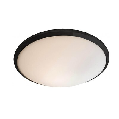Matthies 1-Light Flush Mount Fixture Finish: Graphite