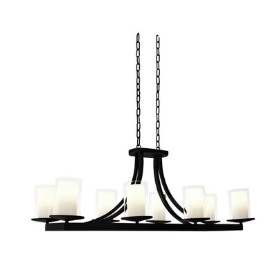 Matthies 8-Light Candle-Style Chandelier Fixture Finish: Graphite