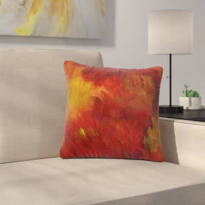 Cyndi Steen Winsor Flower Outdoor Throw Pillow Size: 16 H x 16 W x 5 D