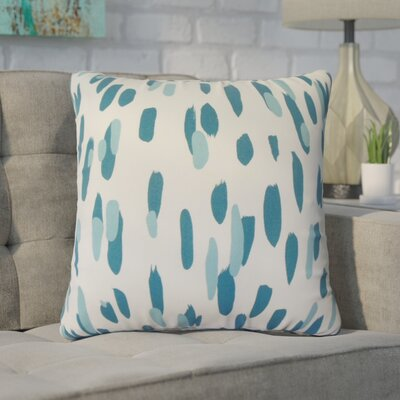 Wigfall Down Filled 100% Cotton Throw Pillow Size: 18 x 18, Color: Pool