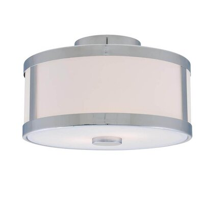 St Philips Marsh 2-Light Semi Flush Mount Fixture Finish: Chrome