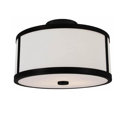 St Philips Marsh 2-Light Semi Flush Mount Fixture Finish: Graphite