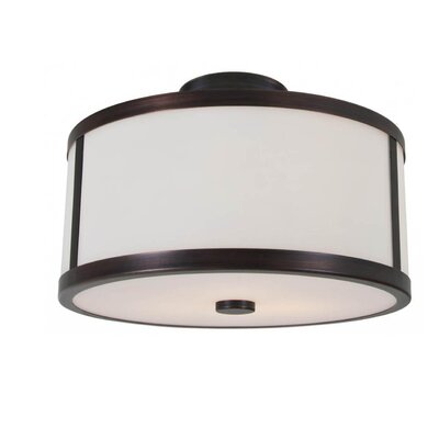 St Philips Marsh 2-Light Semi Flush Mount Fixture Finish: Oil Rubbed Bronze