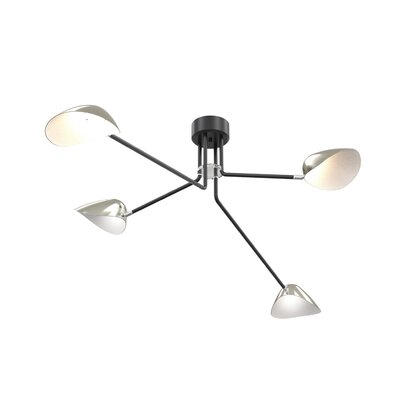 Locascio 4-Light LED Semi Flush Mount