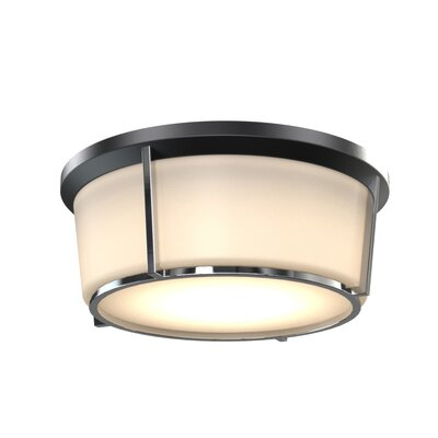 St. Marks Place 1-Light LED Flush Mount Fixture Finish: Black/Chrome