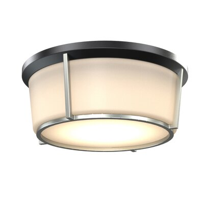 St. Marks Place 1-Light LED Flush Mount Fixture Finish: Black/Satin Nickel