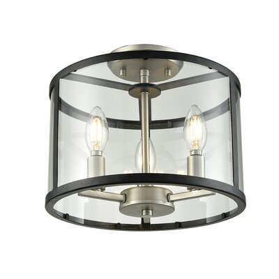 Cullman 3-Light Semi Flush Mount
