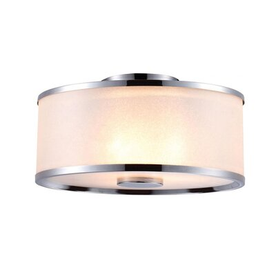 Stadler 3-Light Semi Flush Mount Fixture Finish: Chrome