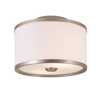 Stadler 2-Light Semi Flush Mount Fixture Finish: Buffed Nickel