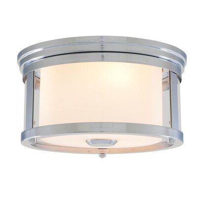 Mattox 2-Light Flush Mount Fixture Finish: Chrome