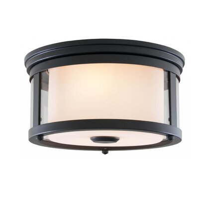 Mattox 2-Light Flush Mount Fixture Finish: Graphite