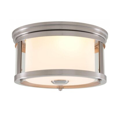 Mattox 2-Light Flush Mount Fixture Finish: Satin Nickel