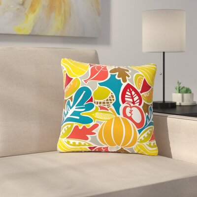 Agnes Schugardt Fall Harvest Food Outdoor Throw Pillow Size: 16 H x 16 W x 5 D