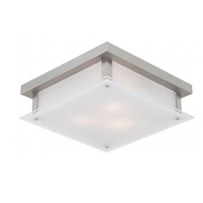 Mattson 3-Light Flush Mount Fixture Finish: Buffed Nickel