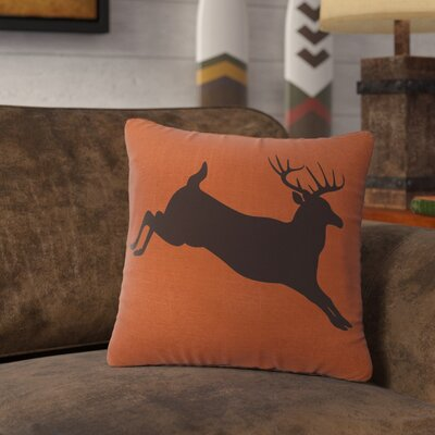 Nakayama Jumping Deer Throw Pillow Color: Paprika