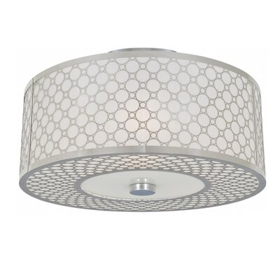 Stahl 2-Light Semi Flush Mount