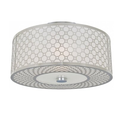 Stahl 3-Light Semi Flush Mount Size: 8.5 H x 16 W x 16 D