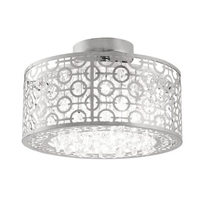 Hering 3-Light Semi Flush Mount Size: 10 H x 18.5 W x 18.5 D