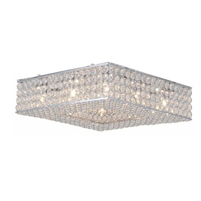 Langers 8-Light Flush Mount Size: 5 H x 18 W x 18 D