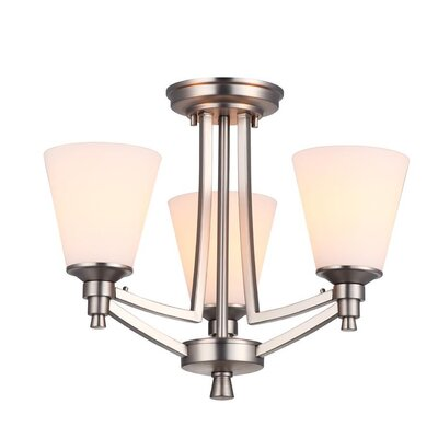 Fielder 3-Light Semi Flush Mount