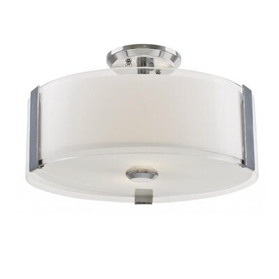 Mauch 3-Light Semi Flush Mount Size: 8.25 H x 16 W x 16 D, Fixture Finish: Chrome