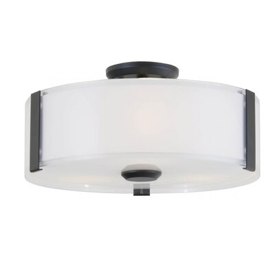Mauch 3-Light Flush Mount Fixture Finish: Graphite