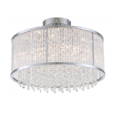 Norris 6-Light Semi Flush Mount Size: 9.5 H x 16 W x 16 D
