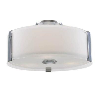 Mauch 1-Light LED Flush Mount Fixture Finish: Chrome