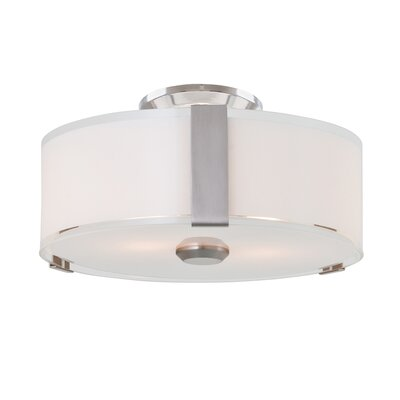 Mauch 1-Light LED Flush Mount Fixture Finish: Satin Nickel