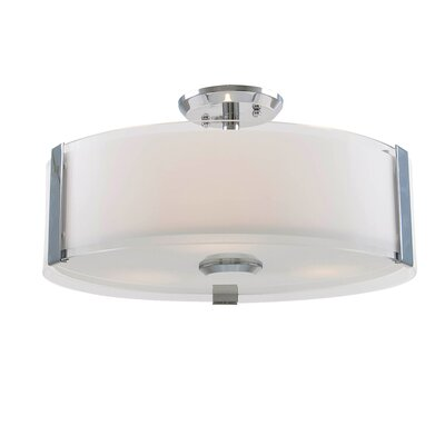 Mauch 1-Light LED Semi Flush Mount Size: 8.75 H x 14 W x 14 D
