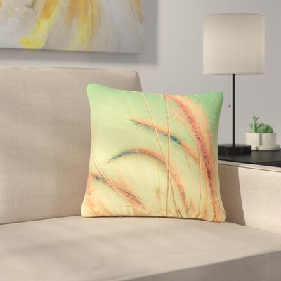 Graphic Tabby Dancing in Spring Nature Outdoor Throw Pillow Size: 18 H x 18 W x 5 D