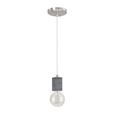 Greenstein Adjustable 1-Light Mini Pendant Size: 66.5 H x 4.5 W x 4.5 D