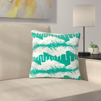 Love Midge Brush Abstract Outdoor Throw Pillow Size: 16 H x 16 W x 5 D