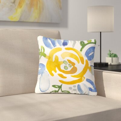 Jennifer Rizzo Buttercup Floral Outdoor Throw Pillow Size: 16 H x 16 W x 5 D