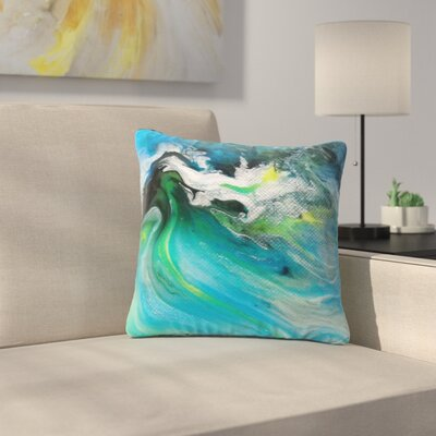 Carol Schiff Turquoise and Abstract Outdoor Throw Pillow Size: 16 H x 16 W x 5 D