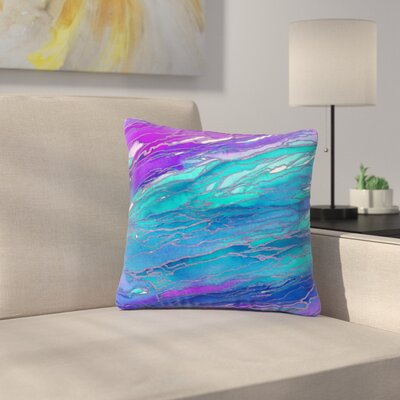 Agate Magic Throw Pillow Size: 18 H x 18 W x 6 D, Color: Purple / Blue